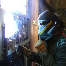 Soudure Aluminium, à l'aide du poste Kempi Semi automatique Mig