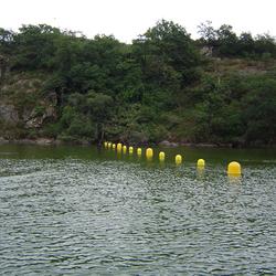 Installation de ligne de mouillage, emplacement matérialisé pour pompe d'eau
